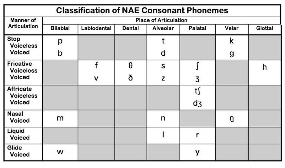 Consonant  Vowel Charts Nae  Teaching Pronunciation Skills